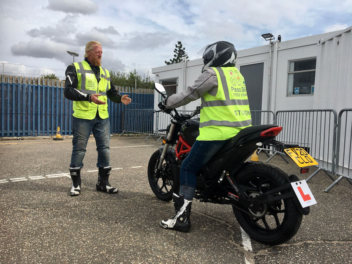 pass bikes motorcycle training